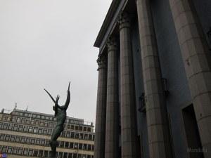 Dans les rues de Norrmalm à Stockholm